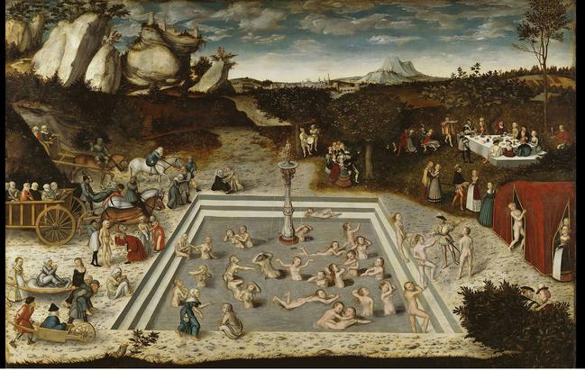 Lucas Cranach d. Ä.: Der Jungbrunnen, 1546, Gemäldegalerie, Berlin