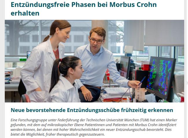Entzündungsfreie Phasen bei Morbus Crohn erhalten